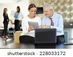 business team discussing... | Shutterstock . vector #228033172