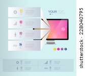 infographic design with... | Shutterstock .eps vector #228040795