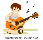 playing guitar   vector   Shutterstock .eps vector #22804462