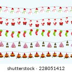 seamless christmas background | Shutterstock . vector #228051412