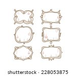 christmas doodle frame | Shutterstock . vector #228053875