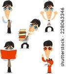 nerd geek nerdy dork unpopular...   Shutterstock .eps vector #228063346