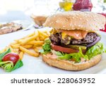 cheese burger   american cheese ... | Shutterstock . vector #228063952