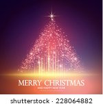 shining christmas tree. vector... | Shutterstock .eps vector #228064882