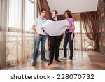 man real estate agent showing... | Shutterstock . vector #228070732