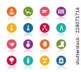 gardening icons | Shutterstock .eps vector #228071716