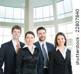 business team in a hall of... | Shutterstock . vector #22807840