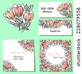 wedding invitation cards with... | Shutterstock .eps vector #228079558
