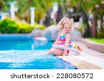 adorable little girl with curly ... | Shutterstock . vector #228080572