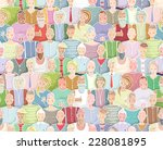 colorful people background...   Shutterstock .eps vector #228081895