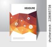 vector education book cover... | Shutterstock .eps vector #228085738