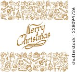 vector card with christmas and... | Shutterstock .eps vector #228094726