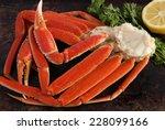 Crab Legs On Brown Rustic...