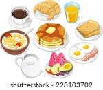 Breakfast Menu  Vector...
