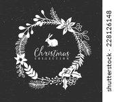 chalk decorative greeting... | Shutterstock .eps vector #228126148
