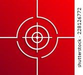 vector modern white aim circle...