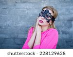 young blond sensual woman in... | Shutterstock . vector #228129628