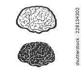 brain vector human symbol... | Shutterstock .eps vector #228134302