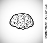 brain vector human symbol... | Shutterstock .eps vector #228134368