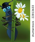 ant in a hat and flowers for... | Shutterstock .eps vector #22813633