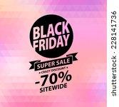 black friday sale illustration. ... | Shutterstock .eps vector #228141736
