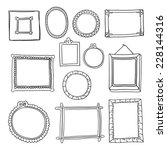 set of hand drawn vector frames.... | Shutterstock .eps vector #228144316