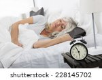 sleeping woman in front of the... | Shutterstock . vector #228145702