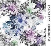 seamless pattern of beautiful... | Shutterstock . vector #228147925