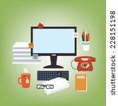 secretary desk | Shutterstock .eps vector #228151198
