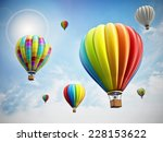 hot air balloon isolated on... | Shutterstock . vector #228153622