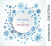 Watercolor Snowflakes Frame Fo...