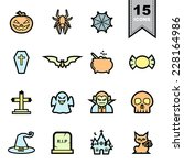 Halloween Line icons set .Illustration eps 10  - stock vector