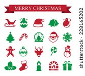 Christmas icon set.Illustration EPS10 - stock vector