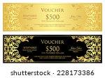 luxury golden and black voucher ... | Shutterstock .eps vector #228173386