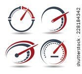 vector set of abstract tachometers speedometers idea for the concept of logo