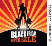 black friday super sale... | Shutterstock .eps vector #228190312