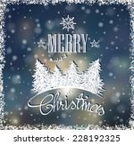 christmas card with hand drawn... | Shutterstock .eps vector #228192325