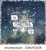 christmas card with hand drawn... | Shutterstock .eps vector #228192328