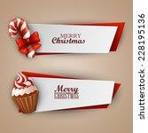 christmas banners set  | Shutterstock .eps vector #228195136