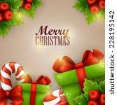 christmas background | Shutterstock .eps vector #228195142