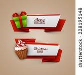 christmas banners set  | Shutterstock .eps vector #228195148