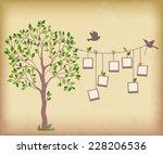 memories tree with photo frames.... | Shutterstock . vector #228206536