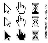 illustration hand cursor... | Shutterstock . vector #228207772