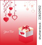 greeting card with gift box and ... | Shutterstock .eps vector #22820902