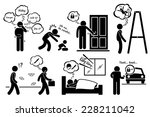 paranoid paranoia people too... | Shutterstock .eps vector #228211042