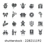 christmas element icons | Shutterstock .eps vector #228211192