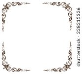 line thai art pattern vector... | Shutterstock .eps vector #228215326