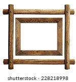 Wood Frames Set Isolated On...