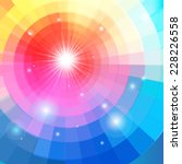 bright multicolored gradient background with luminaries - stock vector