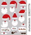 christmas santa claus vector... | Shutterstock .eps vector #228227776